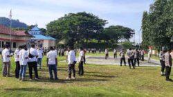 Rutin Hari Rabu, Kasatfung Polres Bangkep Gelar Apel Fungsi